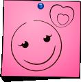 Post-It Smiley: Love (emotee) by mondspeer