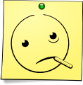 Post-It Smiley: Ill (emotee) by mondspeer