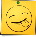 Post-It Smiley: Sticking Tongue (emotee) by mondspeer