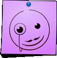 Post-It Smiley: Monocle (emotee) by mondspeer
