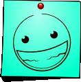 Post-It Smiley: Smiling teeth (emotee) by mondspeer