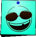 Post-It Smileys: Cool Glasses (emotee) by mondspeer