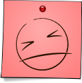 Post-It Smiley: Ouch! (emotee) by mondspeer