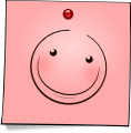 Post-It Smiley: Blush (emotee) by mondspeer