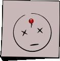 Post-It Smiley: Dead No. 1 (emotee) by mondspeer