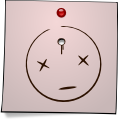 Post-It Smiley: Dead No. 2 (emotee) by mondspeer