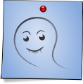 Post-It Smiley: Ghost (emotee) by mondspeer
