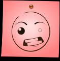 Post-It Smiley: Mad (emotee) by mondspeer