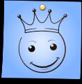Post-It Smiley: King (emotee) by mondspeer