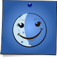 Post-It Smiley: The Moon (emotee) by mondspeer