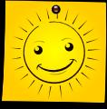 Post-It Smiley: The Sun (emotee) by mondspeer