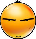 New Smiley: Grim (emotee) by mondspeer