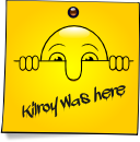 Post-It Smiley: Kilroy (Emotee) by mondspeer