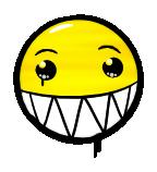 Graffiti Smiley: Biggrin Emotee by mondspeer