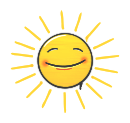 Graffiti Smiley: Sun Emotee by mondspeer