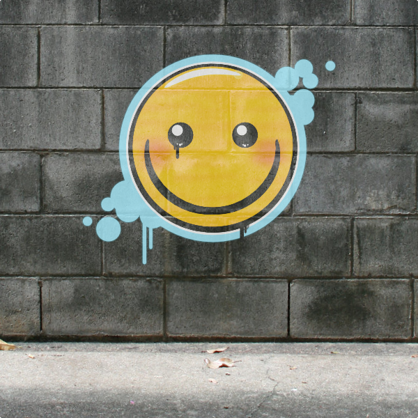 how to draw a graffiti smiley face