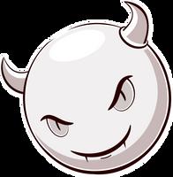 Inktober 1: Halloween Smiley Little Devil by mondspeer