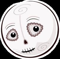 Inktober 2: Helloween Smiley Dias De Los Muertos by mondspeer