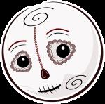 Inktober 2: Halloween Emotee Dias de los Muertos by mondspeer