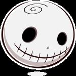 Inktober 6: Halloween Skull Emotee by mondspeer