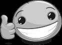 pebble faces - thumb up emotee