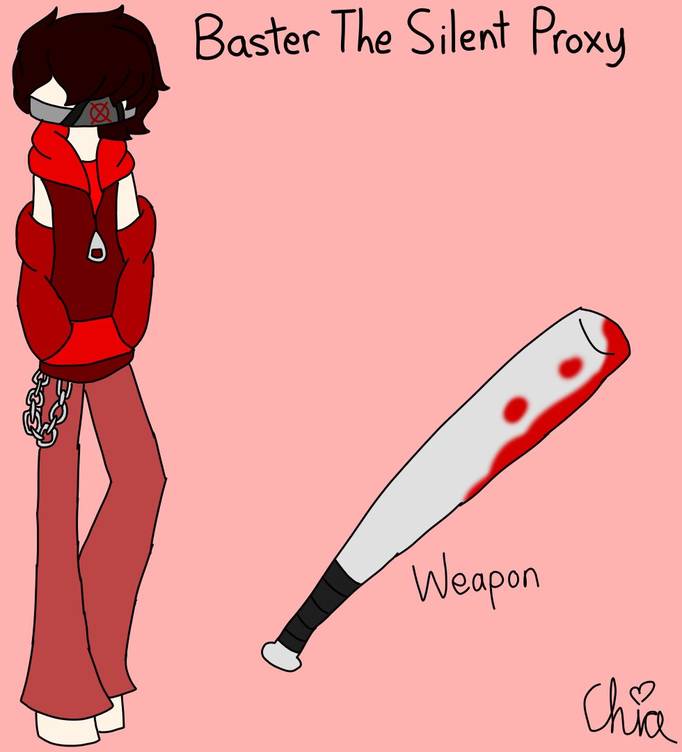 Creepypasta OC-Baster The Silent Proxy by HerrenLovesFNAF