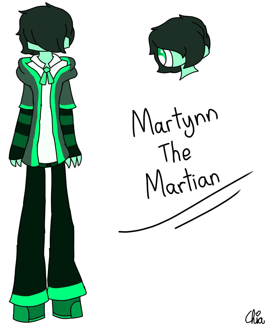 New OC-Martynn The Martian by HerrenLovesFNAF