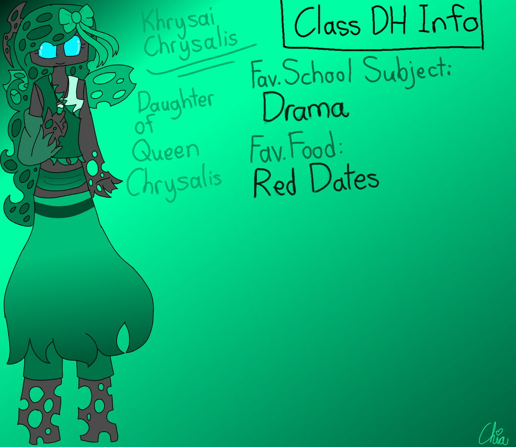 Monster Highschool AU-Khrysai Chrysalis by HerrenLovesFNAF