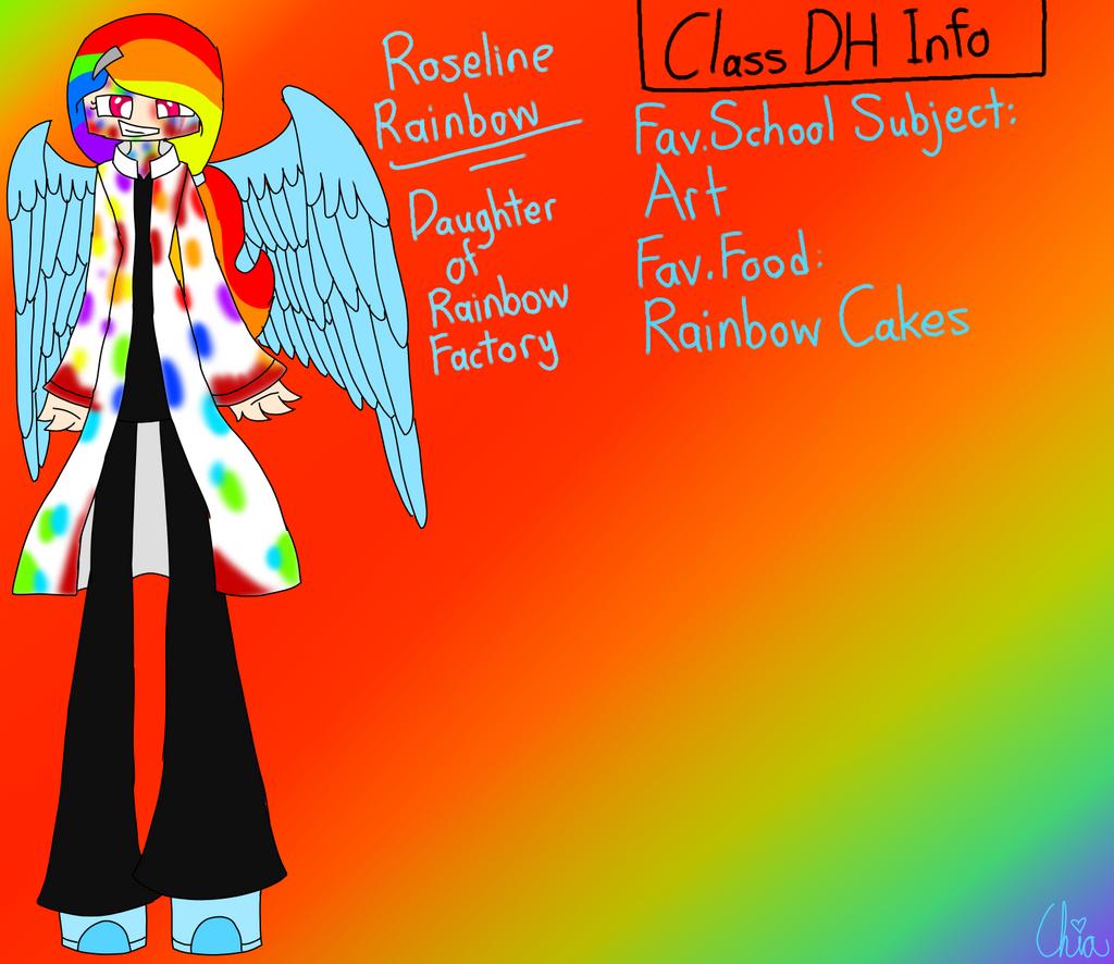 Monster Highschool AU-Roseline Rainbow by HerrenLovesFNAF