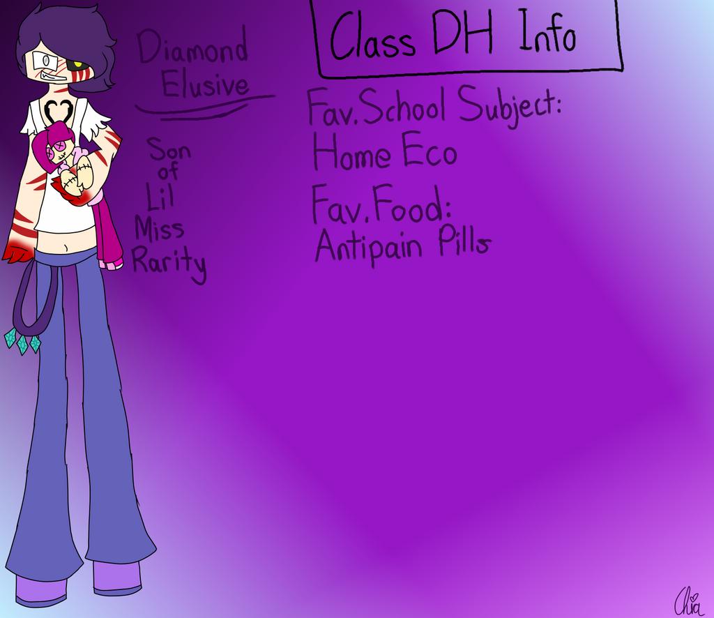 Monster Highschool AU-Diamond Elusive by HerrenLovesFNAF