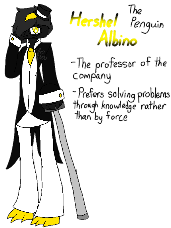 [Animal Yakuzas]-Hershel Albino the Penguin by HerrenLovesFNAF