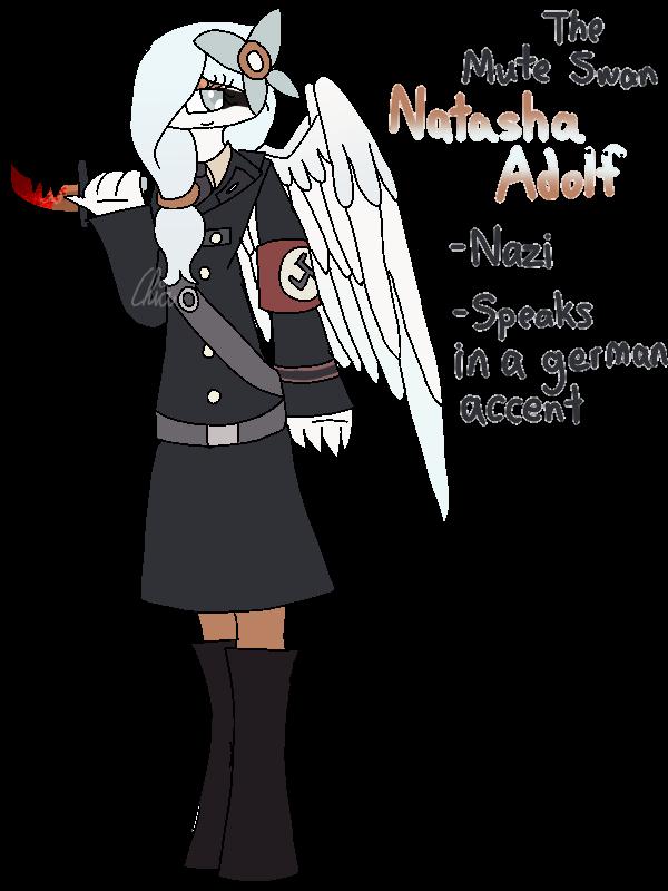[Animal Yakuzas]-Natasha Adolf the Mute Swan by HerrenLovesFNAF
