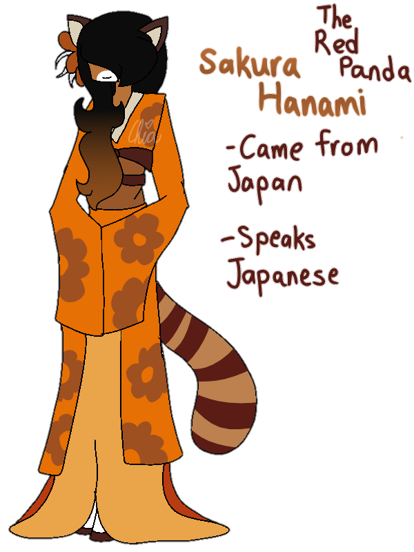 [Animal Yakuzas]-Sakura Hanami the Red Panda by HerrenLovesFNAF