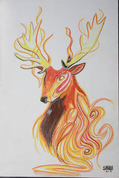 Elemental Fire Stag