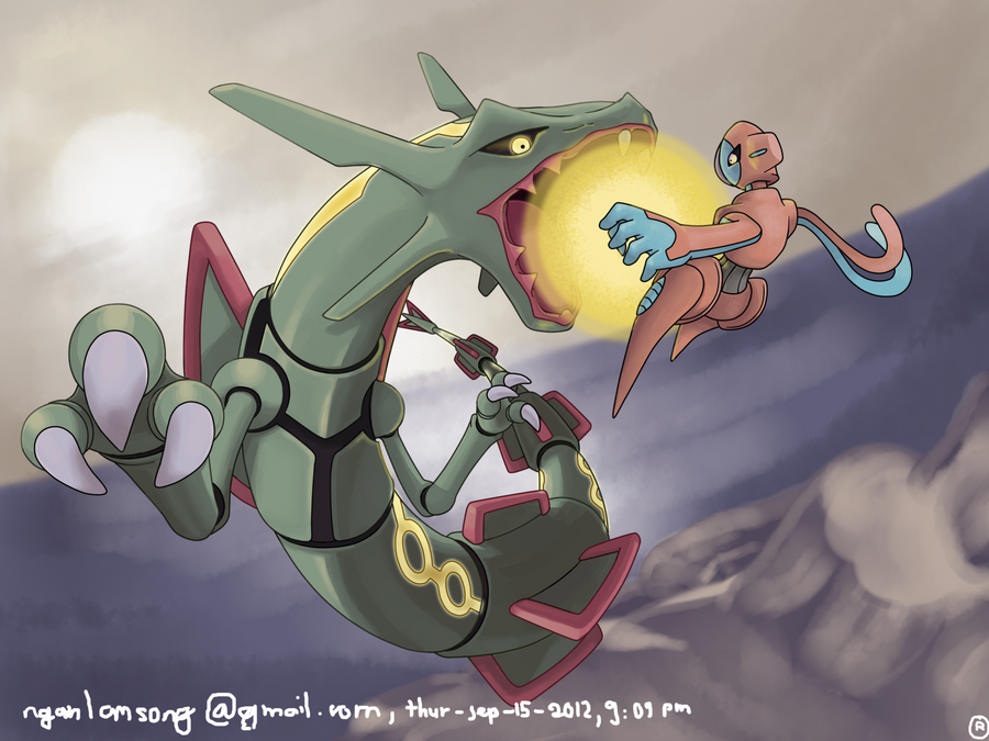 Rayquaza - deoxys - pokemon by nganlamsong on DeviantArt
