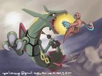 Rayquaza - deoxys - pokemon