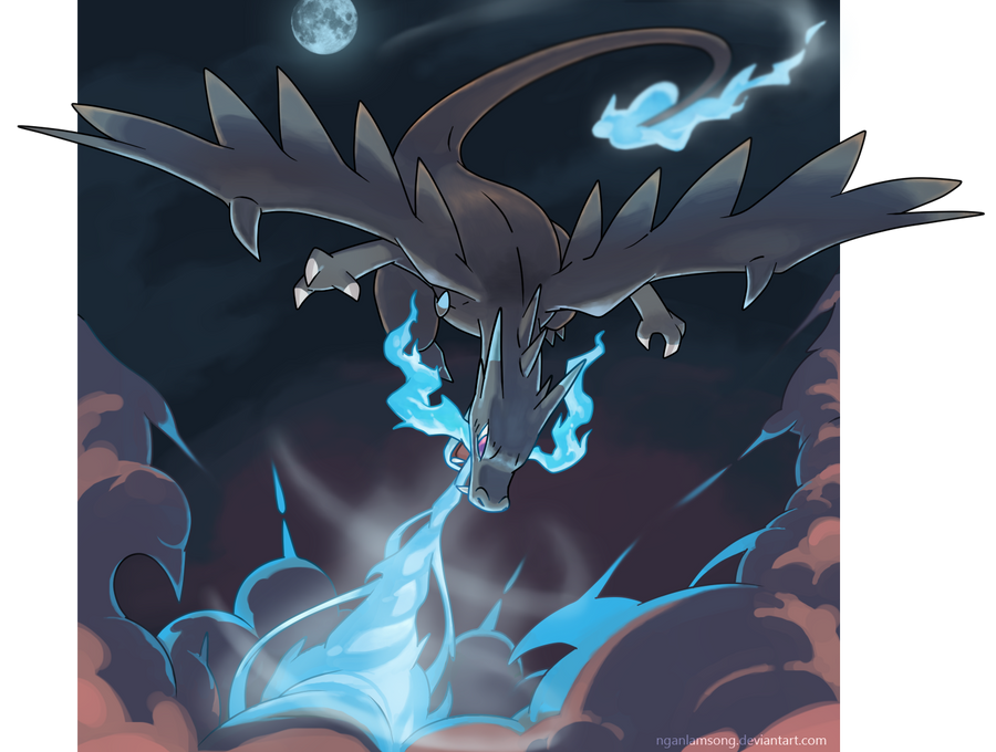 Mega Charizard X - Power of a dragon! by nganlamsong