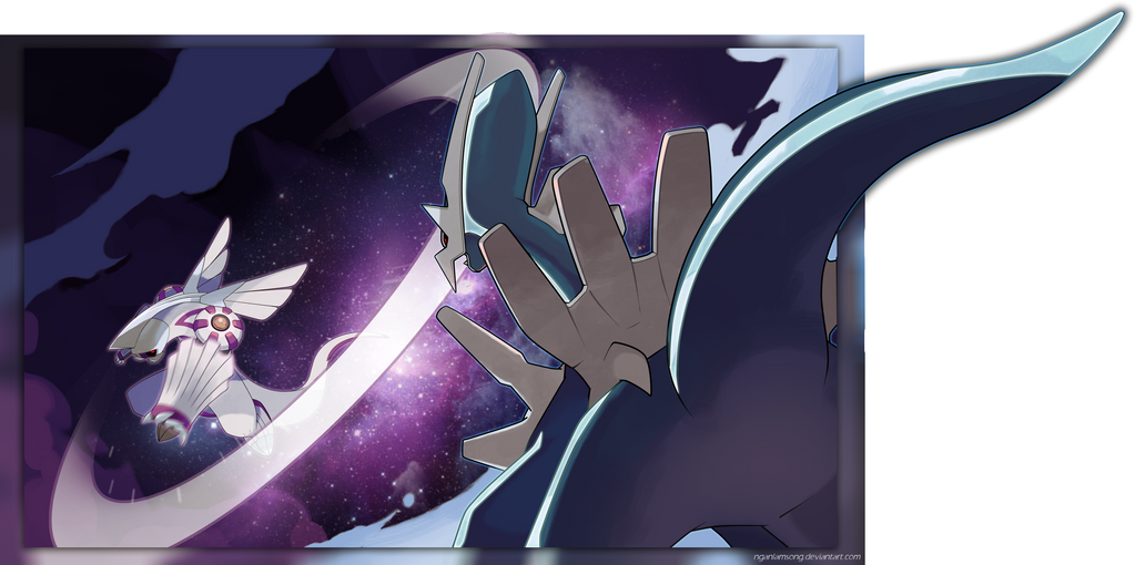 Palkia vs Dialga by nganlamsong on DeviantArt