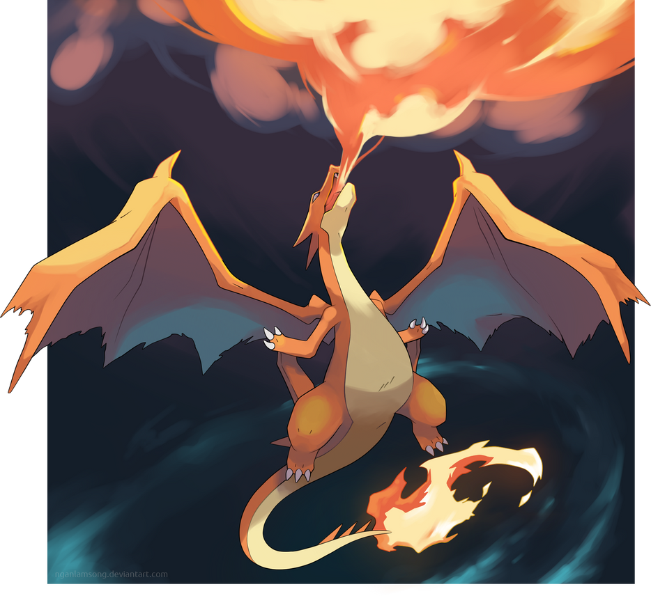 mega charizard wallpaper