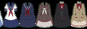 Kisekae: Yandere Simulator Uniforms F [+EXPORTS]