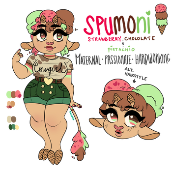 Ice Cream Cow Reference: Spumoni by oreorc