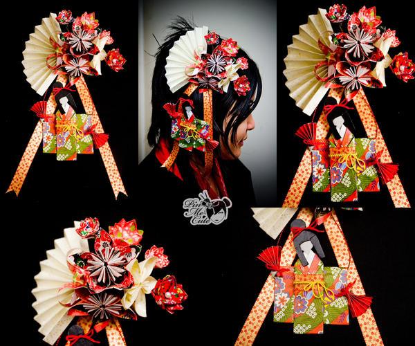 Origami Dancing Geisha Hairpin By Xxpo0k13x On Deviantart