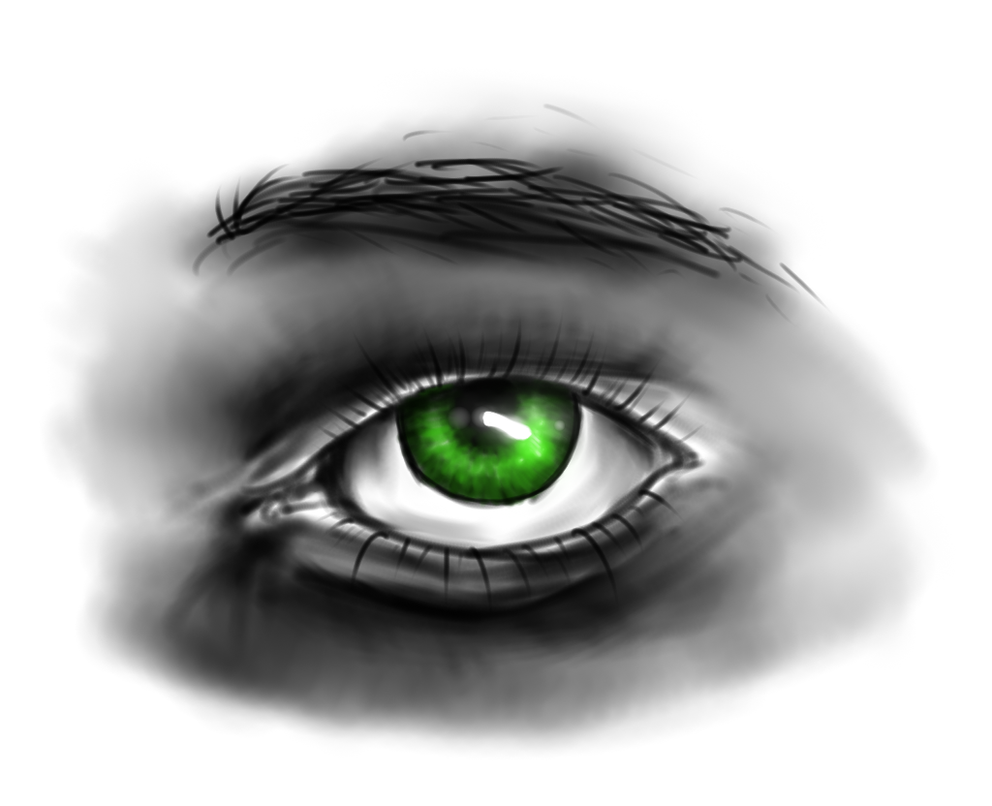 Green Eye Sketch by agree-to-dissagree