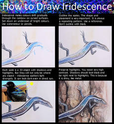 How to draw iridescence by agree-to-dissagree