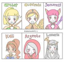 Dragon Nest Girl Characters Chibi Version by littlexwizard8