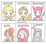 Dragon Nest Girl Characters Chibi Version