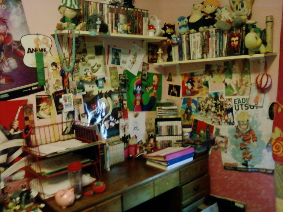 Messy Otaku Room By Mileyeli On DeviantArt