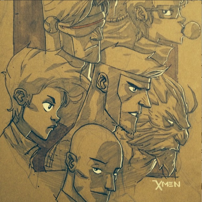90's Xmen of Course by chriscopeland