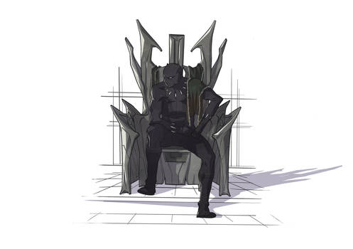 A King on a Throne