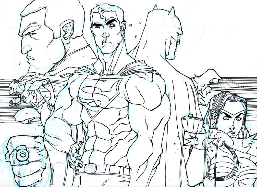 Justice League Minus 2 by chriscopeland